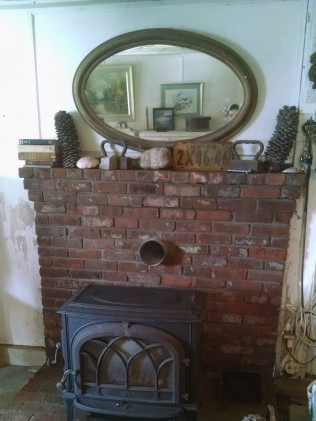 Brick Hearth After