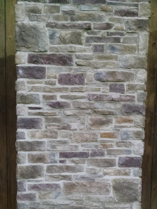 Manufactured Stone Veneer w/Joints Close Up