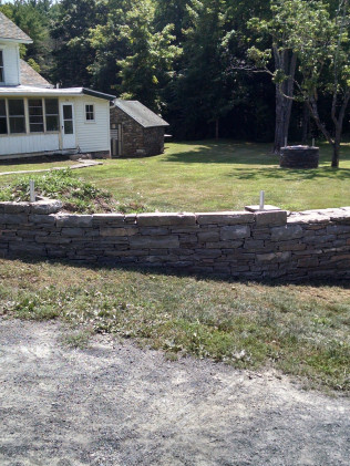 Natural Stone Wall Finished